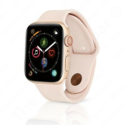premium selection edb6b 2852f Apple Watch Series 4 40mm Gold Aluminum Case with Pink Sand Sport Band GPS  LTE | eBay