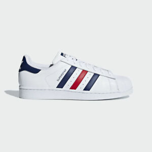 adidas superstar red and blue