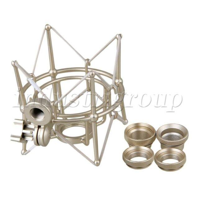 Metal Large Cylinder Silver Microphone Spider Shock Mount for Newman U87 Micr