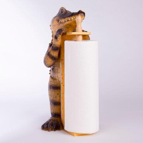Küchenrollenhalter Krokodil Alligator Küche Küchenpapier Spüle Deko Küchendeko