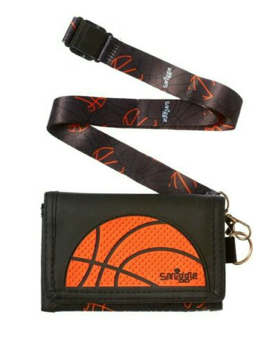 Smiggle SCENTED Kid/'s Wallet Purse w Detachable Lanyard NEW Swish Basketball