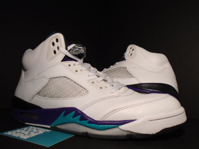 2018 Nike Air Jordan V 5 Retro WHITE EMERALD GREEN GRAPE ICE BLACK 136027-108 11