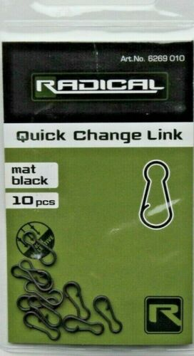 Quantum Radical Quick Change Link Schnellwechsel Verbinder Mat Black 10 Stück