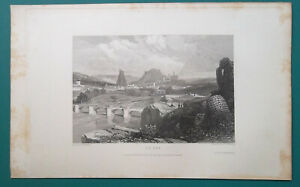 FRANCE-View-of-Le-Puy-1833-Antique-Print-Engraving