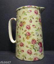 Heron Cross Pottery ROSE BASKET (cream B/G) Chintz English 2 Pint Milk Jug