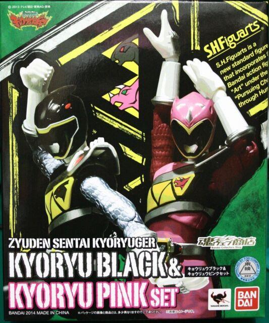 kb10 s h figuarts zyuden sentai kyoryuger kyoryu black pink set