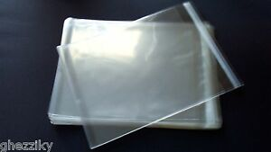 100 CRYSTAL CLEAR Envelopes 6x6+ (6 1/2 x 6 1/2) QUALITY Cardmaking Storing BAGS