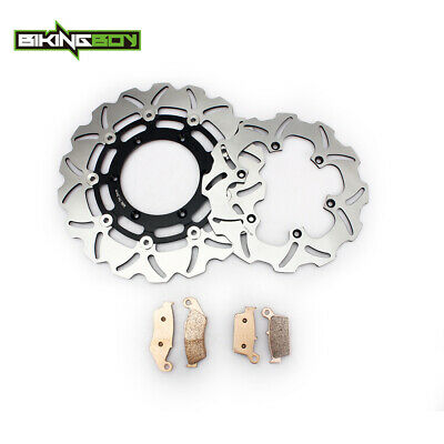 TARAZON Black Set Front /& Rear Brake Rotor Disc for Suzuki DRZ400SM 2005-2016