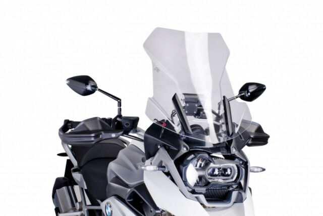 PUIG WINDSHIELD TOURING FOR BMW R1200 GS/ADVENTURE-EXCLUSIVE-RALLYE 14-18 CLEAR