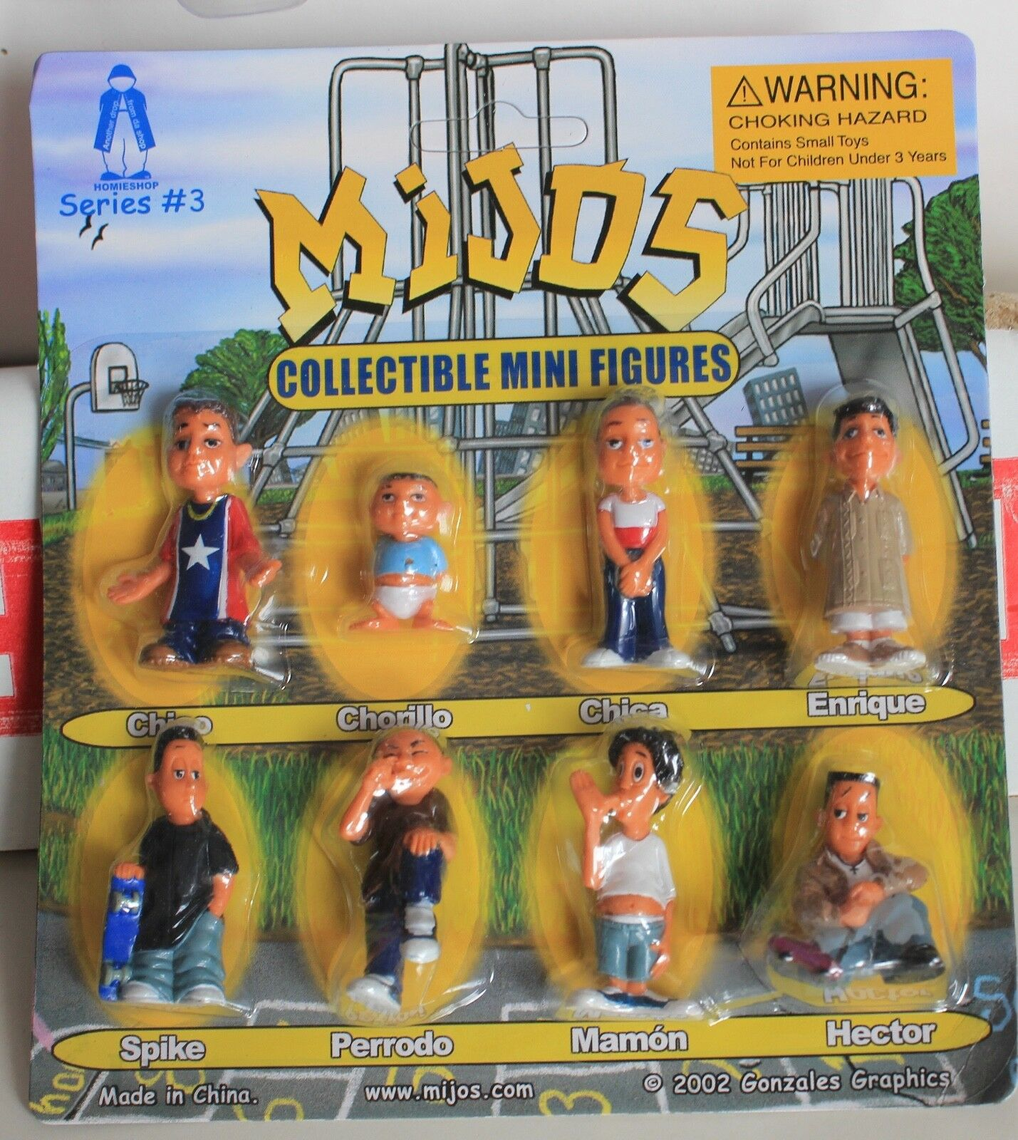 Hey Homies, Mijos series   3 CASE LOT 96 blister cards - 768 figures, 8 per card
