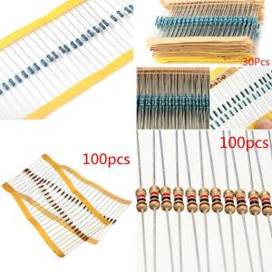 1000pcs 1//4w Watt 10K ohm 10 KOhm Métal Film Résistance 0.25 W 100000R 1/%