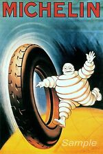 VINTAGE 1898 MICHELIN TYRES ADVERTISING A3 POSTER PRINT