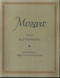 Mozart-Klaviermusik-Serie-IX-Werkgruppe-26-Variationen-fuer-Klavier