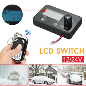LCD-Monitor-Switch-Remote-Control-For-Car-Diesel-Air-Heater-Parking-12V-24V-US
