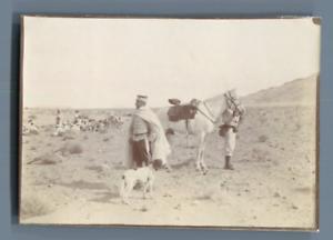Algerie-Cavaliers-Vintage-silver-print-Tirage-argentique-6x8-5-Circa