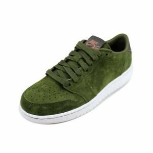 f3b20e3ef71132 Air Jordan 1 Retro Low No Swoosh   919705 330 Legion Green Big Kids ...