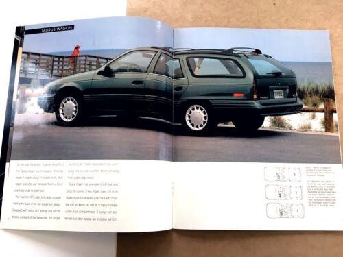 1993 Ford Taurus LX and SHO Original Sales Brochure Catalog Book ...