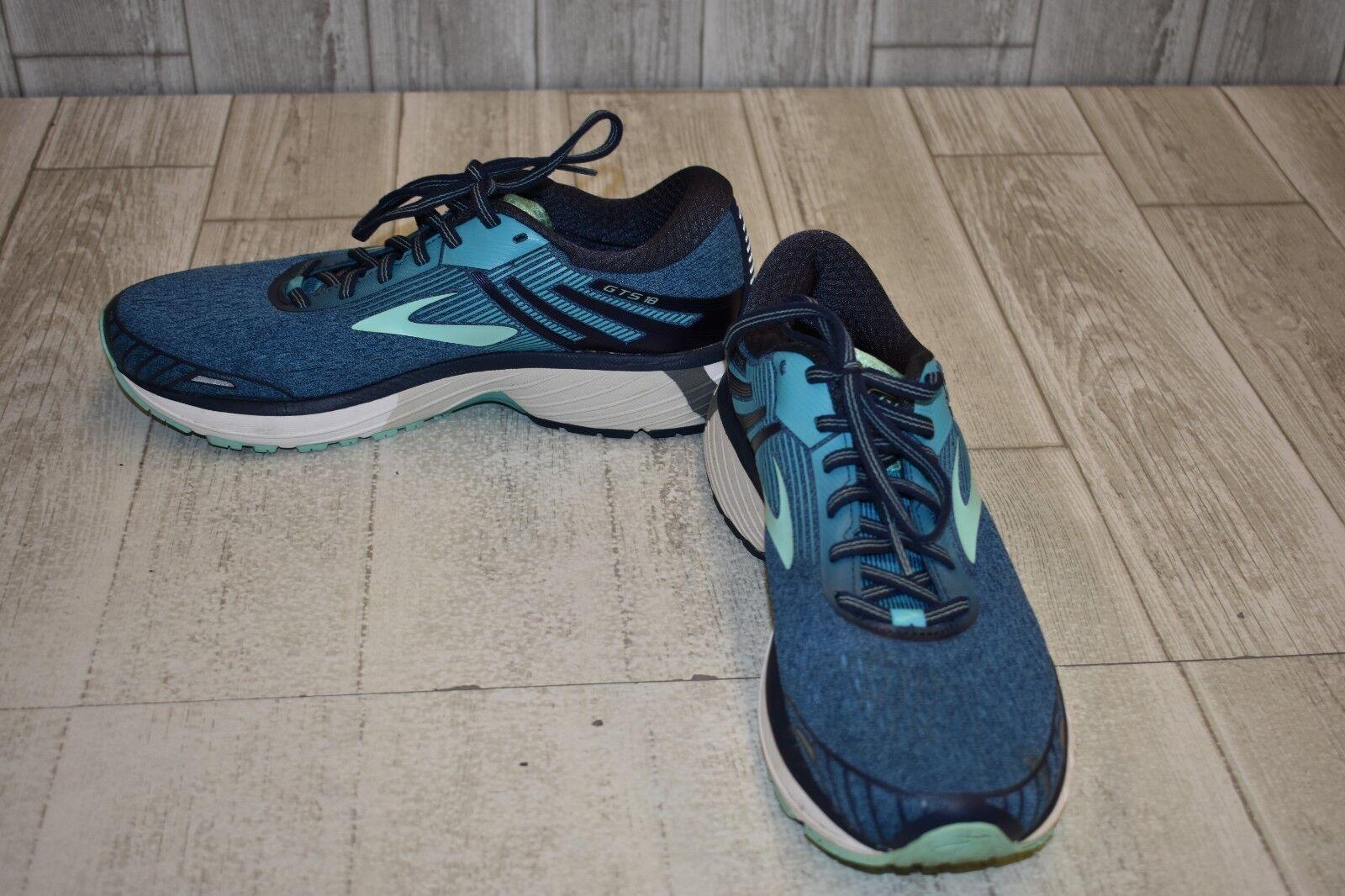 Brooks Adrenaline GTS 18 Running shoes, Women's Size 11 2A, Navy Teal