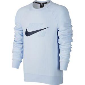 Dettagli su Nike Sb Icona Pile Girocollo Felpa M L Blu Palestra Casual Palestra Nuovo