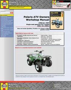 2508] Haynes Service Manual Polaris ATV 250-500cc Magnum 325 330 500