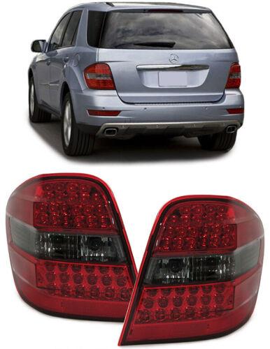LED luci posteriori rosso nero per Mercedes ML w164