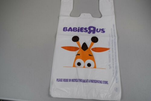 1 Toys or Babies R Us Geoffrey Giraffe Plastic Shopping Bag Collectible 2 sizes