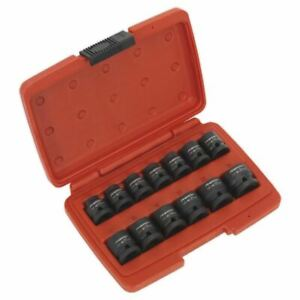 Sealey-AK5613LP-impacto-Socket-Set-13pc-1-2-034-Sq-unidad-de-bajo-perfil-sistema-metrico