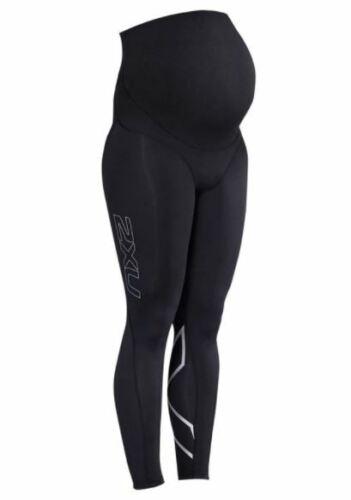 2XU Womens Pre-Natal Sport Compression Tights Black//Silver