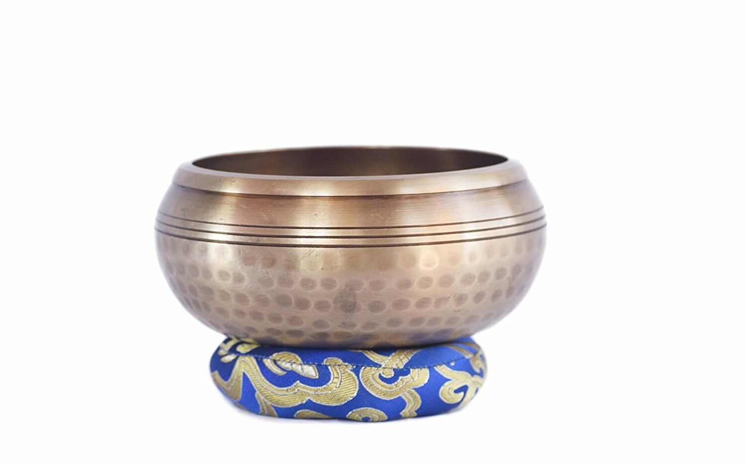 5  hand bitten singing bowl with beautiful hand carved astamandala and om inside