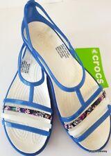 32be5f38b8b6 CROCS NEW LADIES ISABELLA FLAT Sandal Slip On Shoes Blue Oyster Free Post  Comfy