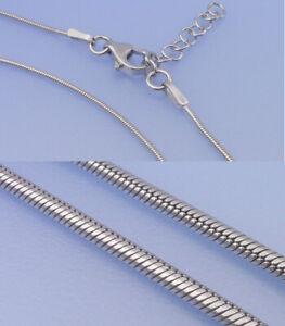 Echt-925-Silber-Schlangenkette-0-9-mm-42-45-cm-Laenge-variabel-Kette-rhodiniert