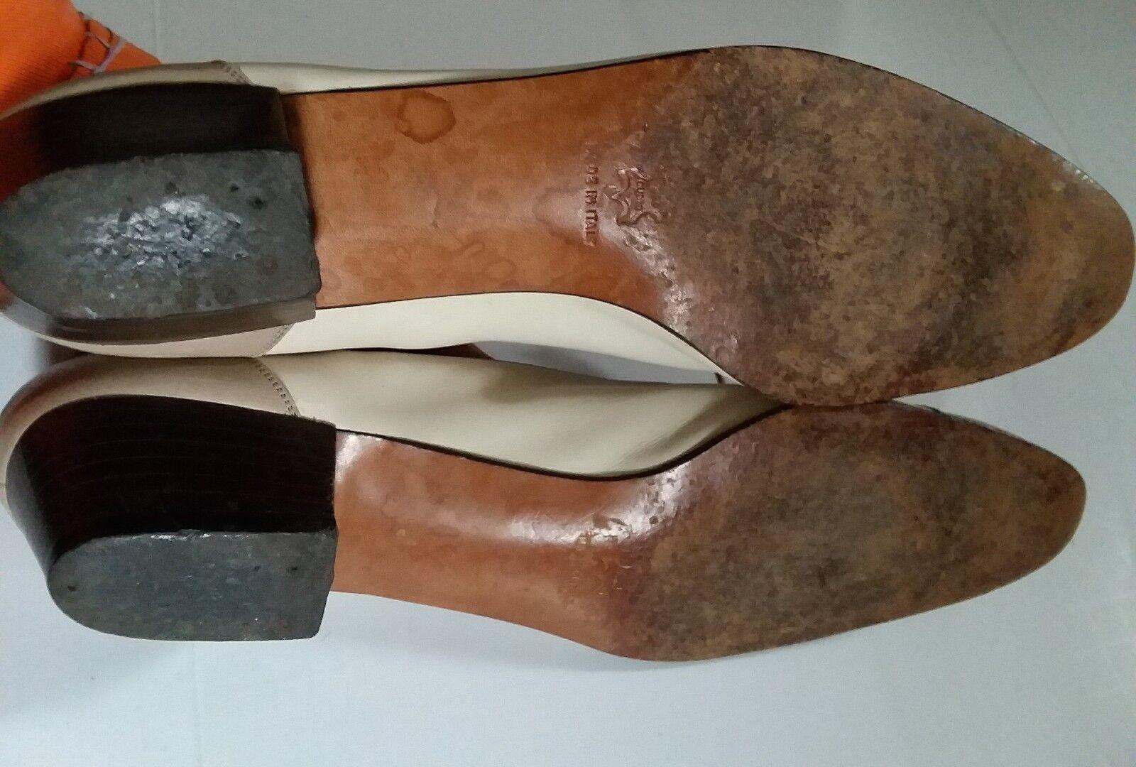 Vtg Salvatore Größe Ferragamo Schuhes Damens Größe Salvatore 9A Two Toned Beige Light Braun Lace Up 294140