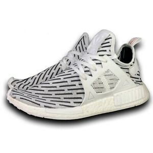 Adidas-NMD-XR1-Primeknit-PK-White-Black-Zebra-BB2911-Men-s-Size-13-Running-Shoes