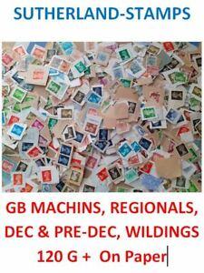 Lot 5 - UK Machins, Regionals, Wildings, Decimal, Pre-decimal Kiloware on paper