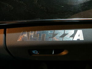 2 ALTEZZA dashboard badge decal JDM IS300