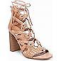 MERONA Women/'s Kolbi Lace Up Gladiator Braided Heel Sandals Size 5.5