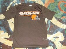 CLEVELAND BROWNS TX3 Cool T-Shirt NFL APPERAL Excellent Condition POLYESTER