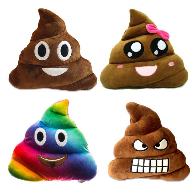 New Rainbow Emoji Poo Plush Soft Toys For Kids Fun Multi Colour Pillow  Cushion