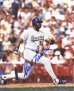 DAVE PARKER  MILWAUKEE BREWERS    ACTION SIGNED 8x10