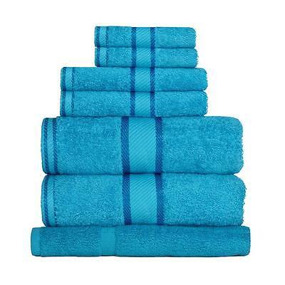 Bright Aqua Blue 100% Cotton Towel Range Sets or Pcs Bath Sheet Towel Hand Face