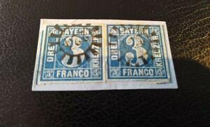 Bayern-Kreuzer-Briefstueck-2x-3-Kreuzer-2II3-gMR-034-224-034-Immenstadt
