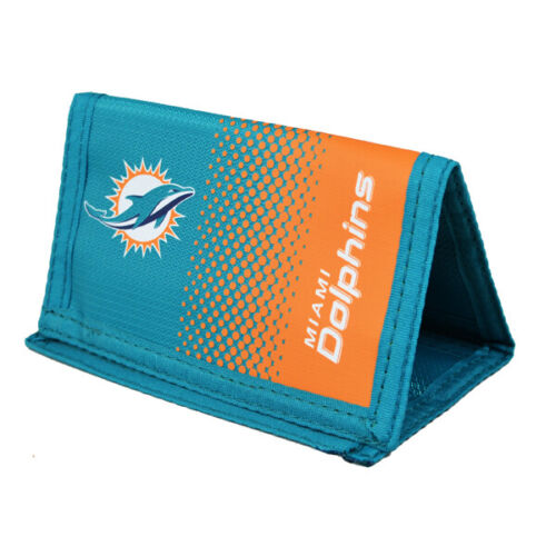 NFL MIAMI DOLPHINS FADE MONEY WALLET COIN CARD AMERICAN FOOTBALL NEW XMAS GIFT