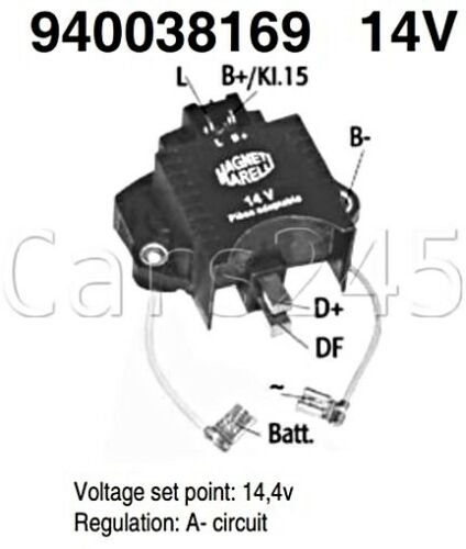 Lichtmaschinenregler Spannungsregler Regler RENAULT14V 940038169