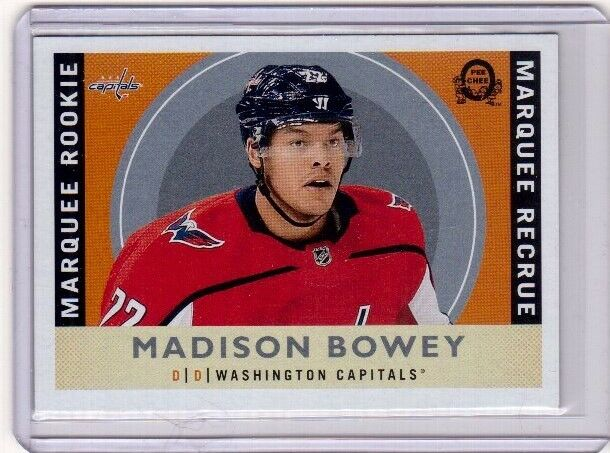 MADISON BOWEY 17/18 O-Pee-Chee OPC Update RETRO Rookie RC #626 Capitals Card