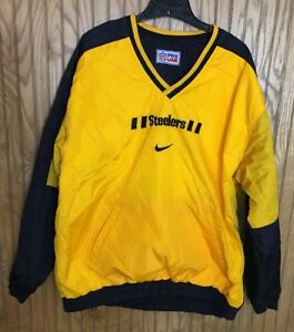 Image is loading Nike-NFL-PROLINE-Pittsburgh-Steelers -Reversible-Pullover-Jacket- fb330407fa429