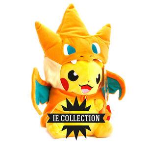 Pokemon Pikachu Robe De Dracaufeu 35 Cm Peluche Pantin Plush Chapeau Doll