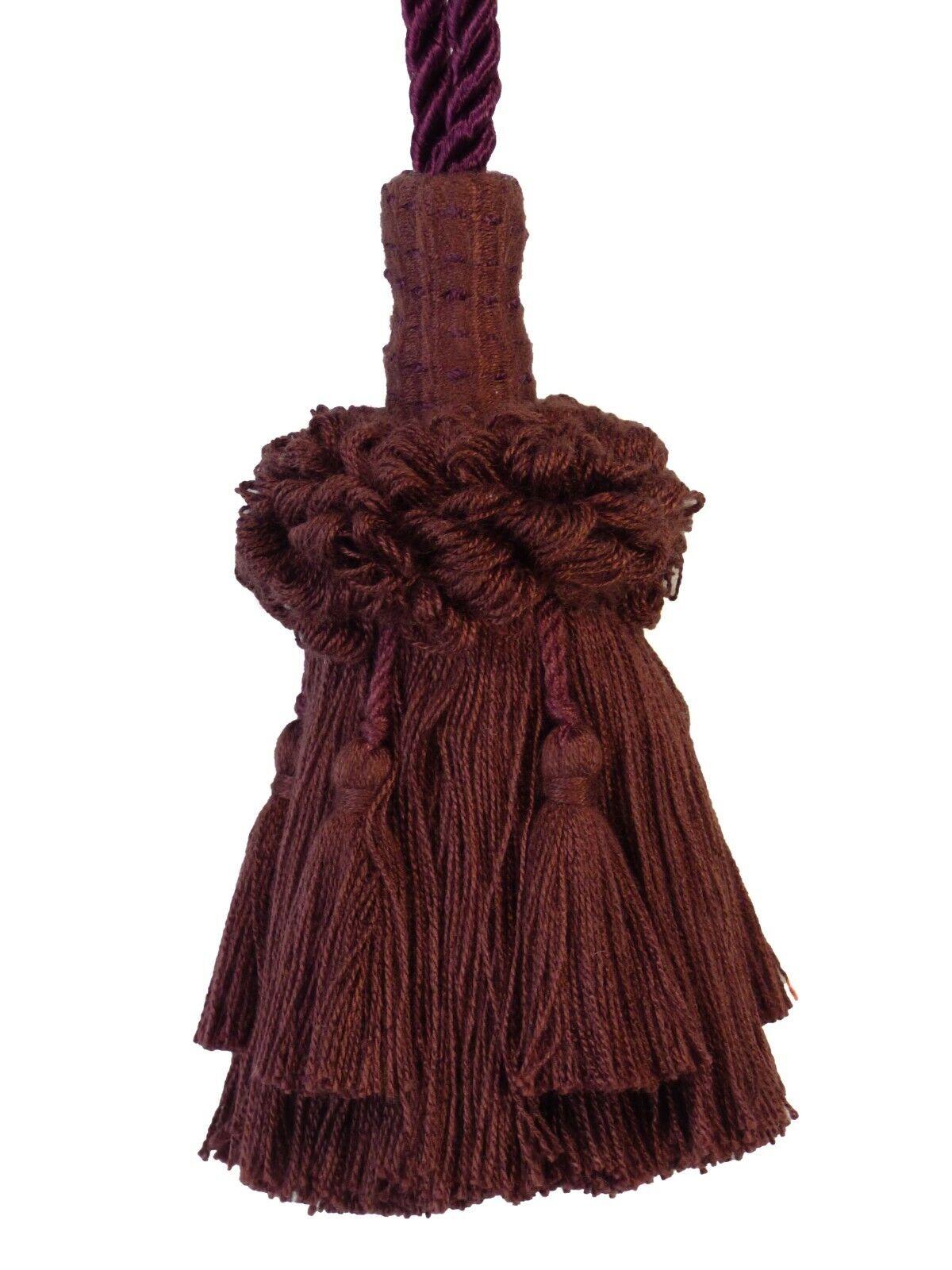 "Conso Empress Collection 21922 B01 NATURAL Decorative 2/"" Key Tassel 5/"" Loop Cord"