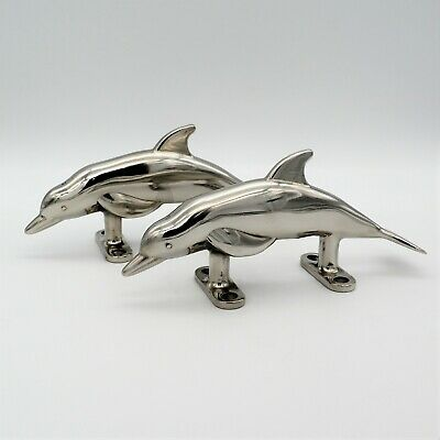 Dolphin Dock Boat Nautical Cleat Fish Large 316 Stainless Marine Decor New Lot 4