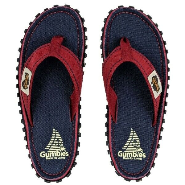 Gumbies ISLANDER Unisex Mens Womens Canvas Summer Toe Post Flip Flops Navy Coast