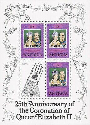 "Antigua & Barbuda, Block ""25th Anniversary Of The Coronation Of Queen Postfrisch Gute WäRmeerhaltung"